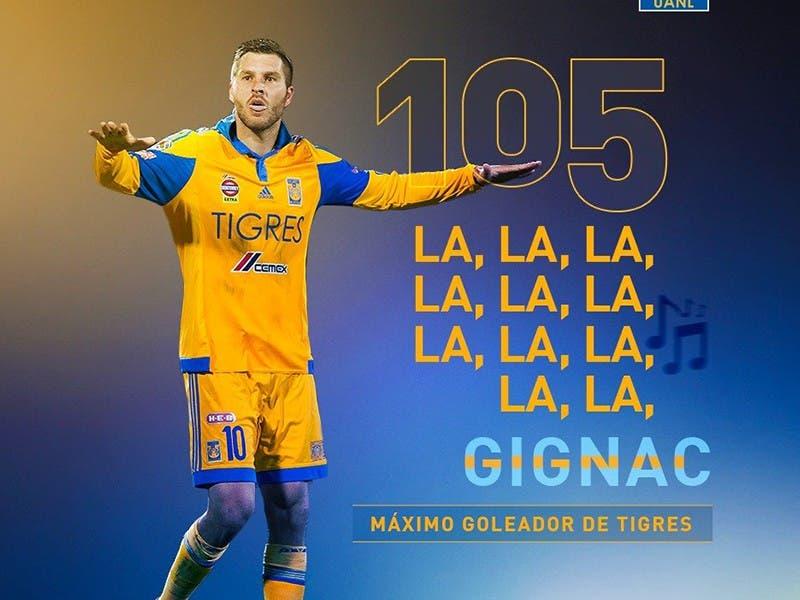 Liga MX: Gignac el Máximo Goleador de Tigres con 105 y contando