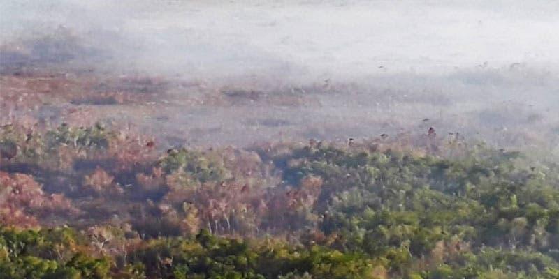 "Avanza liquidación de incendio forestal ""Uaymil"" en Sian Ka'an."