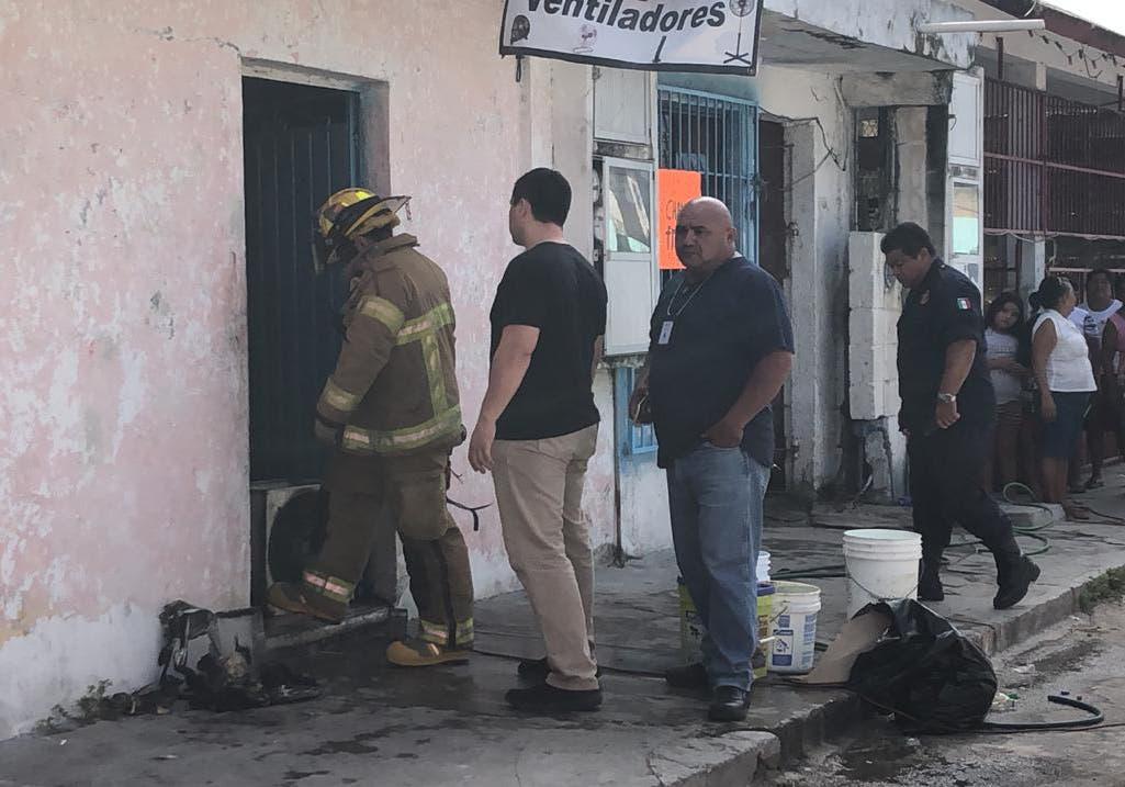 Incendio en Cozumel