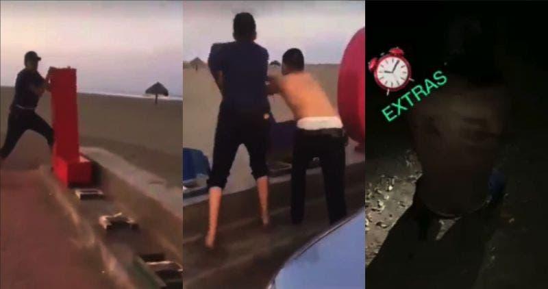 Torturan a joven que vandalizó letras de playa Las Glorias: Vídeo