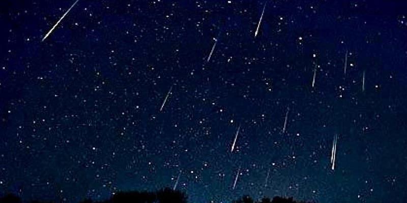 Lluvia de meteoros de perseidas esta noche