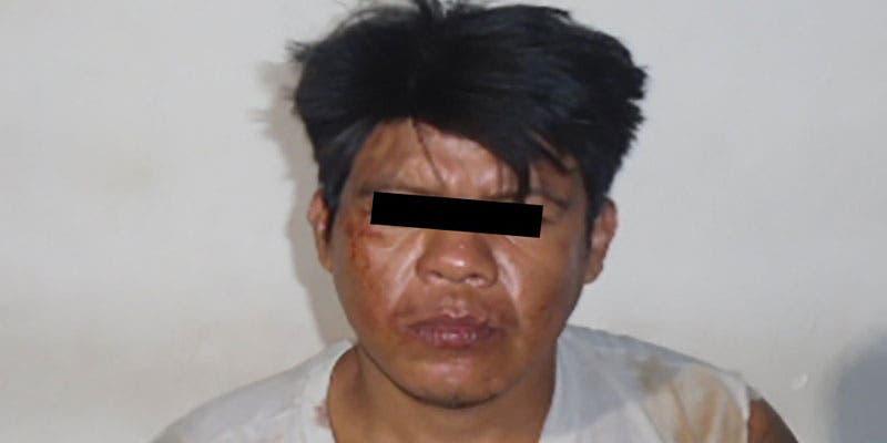 Detienen a sujeto por homicidio en colonia irregular de Cancún; tras una riña y al calor de las copas mató a machetazos a un vecino en la México.