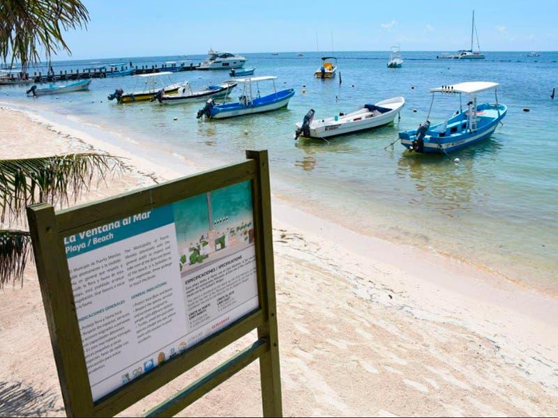 Lucen playas de Puerto Morelos imagen impecable