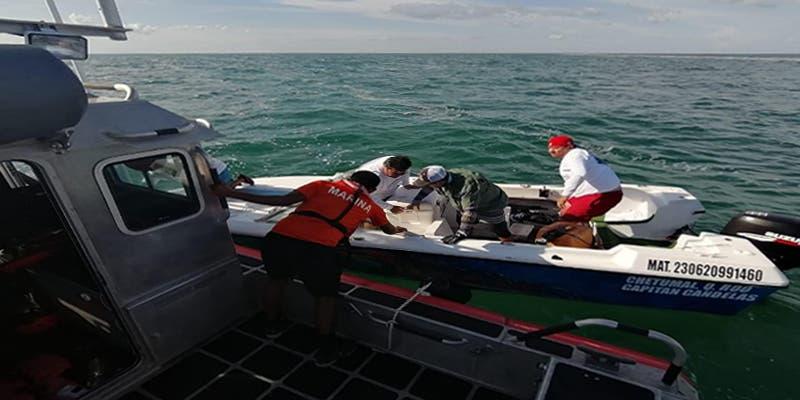 Naval rescata a tripulantes de dos embarcaciones en Bahía de Chetumal