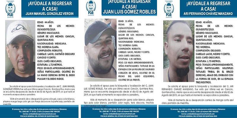 Desaparecen 11 personas en una semana en Quintana Roo.