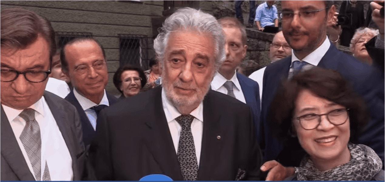 Plácido Domingo reaparece tras acusaciones de acoso sexual