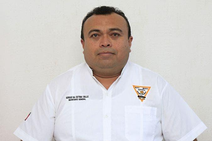 Sergio Cetina Valle dirigente del Sindicato Único de Choferes de Automóviles de Alquiler (SUCHAA)