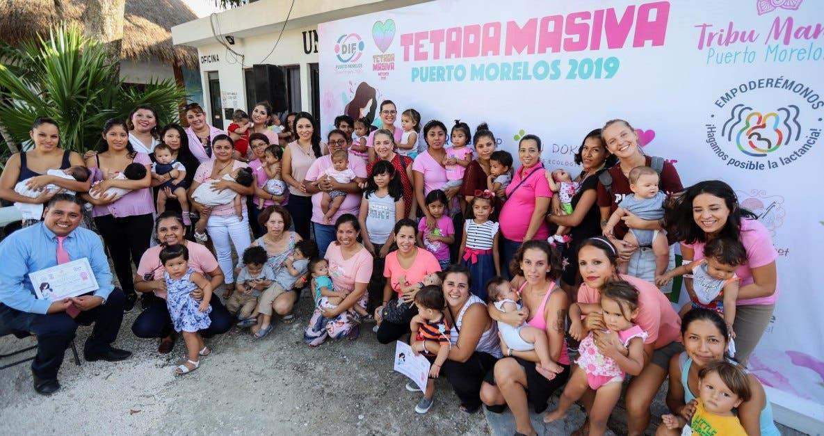 Por primera vez Puerto Morelos es sede oficial registrada del evento Tetada Masiva México, que promueve la lactancia materna junto con organismos internacionales
