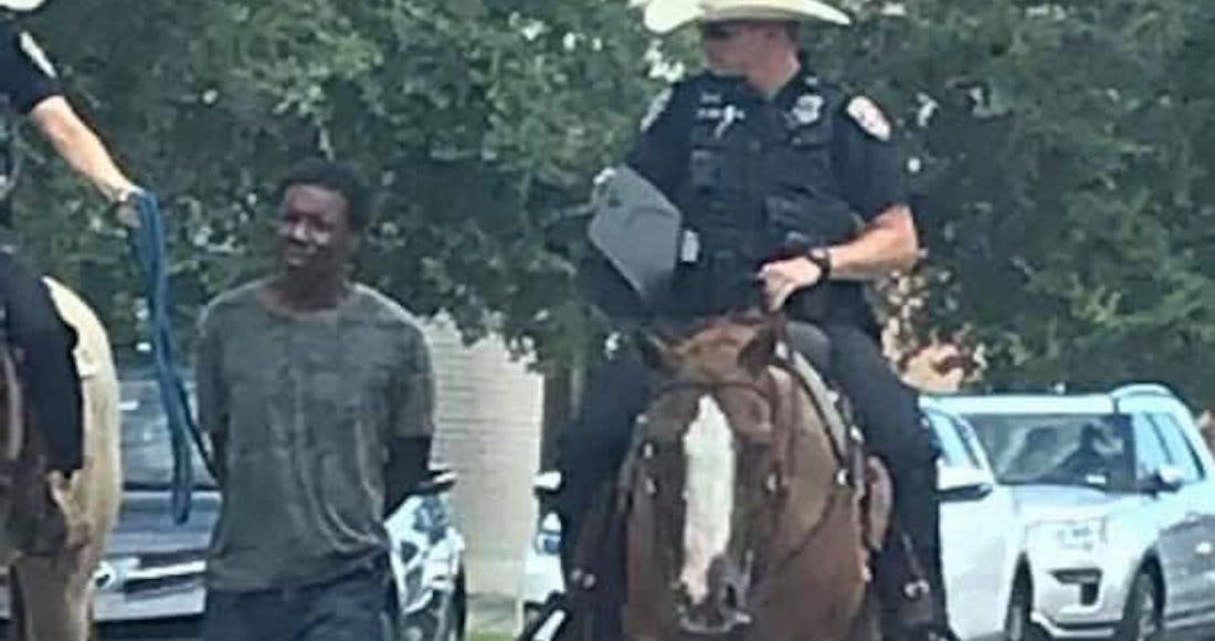 "Protesta familia de afroamericano amarrado, ""está enfermo"", dicen"