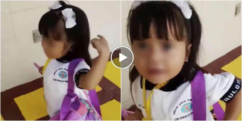 """Niña viral en regreso a clases: """"Bailamos, Cantamos, echamos desmadre""""..."""