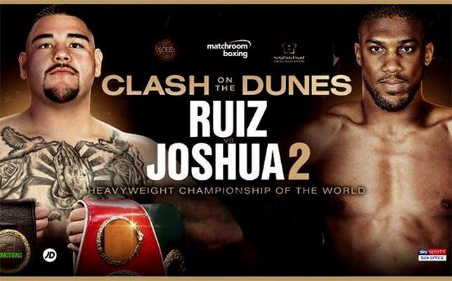 Andy Ruiz vs Anthony Joshua 2: FECHA Y SEDE