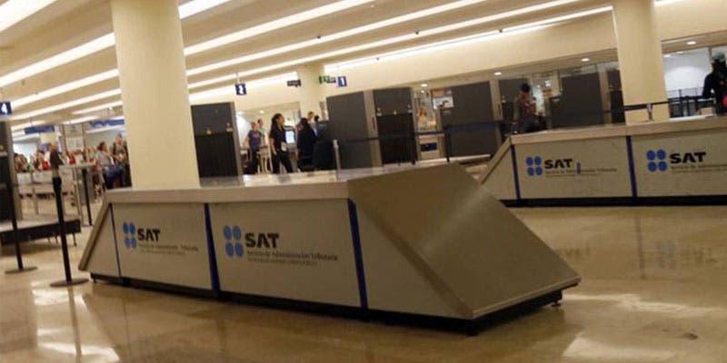 El SAT decomisa 40 mil euros en la Aduana del Aeropuerto de Cancún.