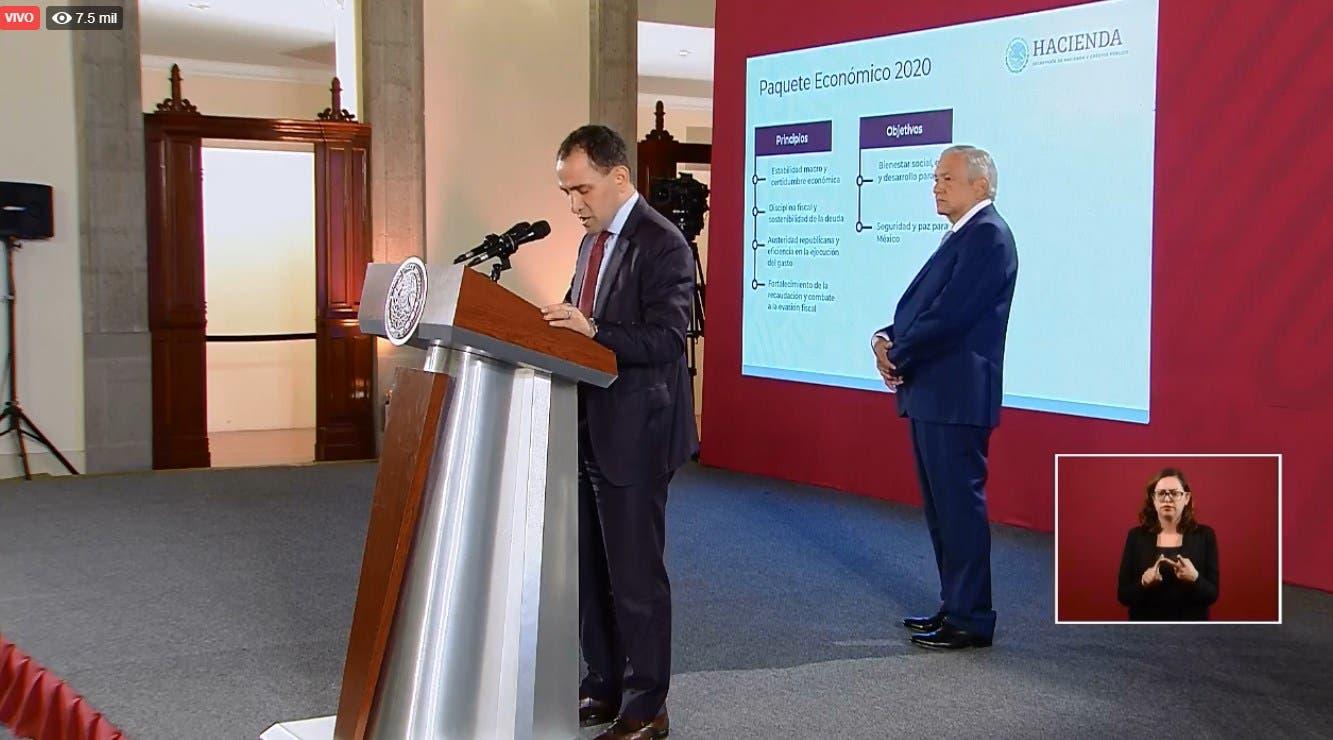 Presenta Hacienda Paquete Económico, primero de la administración de AMLO