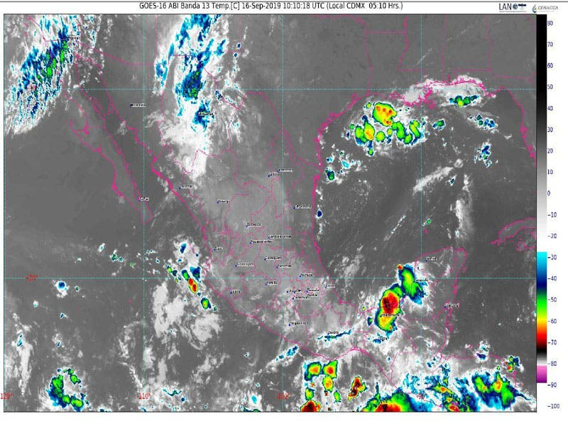Clima: Probabilidad de lluvias aisladas para Quintana Roo; sistema de alta presión en el golfo de México impulsa aire marítimo tropical hacia la Península.