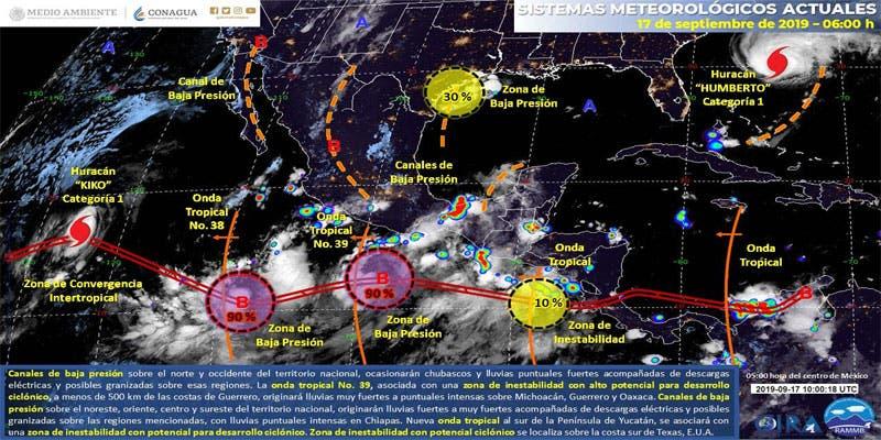 Clima: Temperaturas muy calurosas para Quintana Roo.