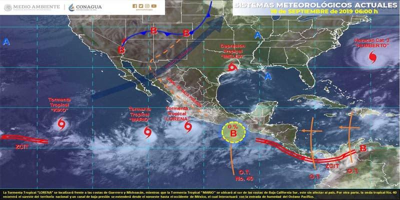 Clima: Se prevén chubascos para Quintana Roo.