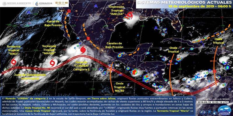 Clima: Probabilidad de chubascos para Quintana Roo.