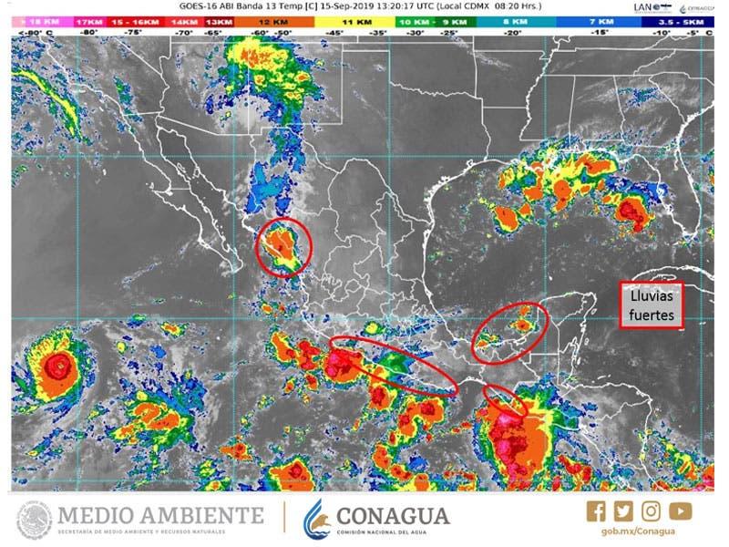 Clima: Se pronostican lluvia. aisladas para Quintana Roo; prevalecerán las altas temperaturas en la Península de Yucatán.