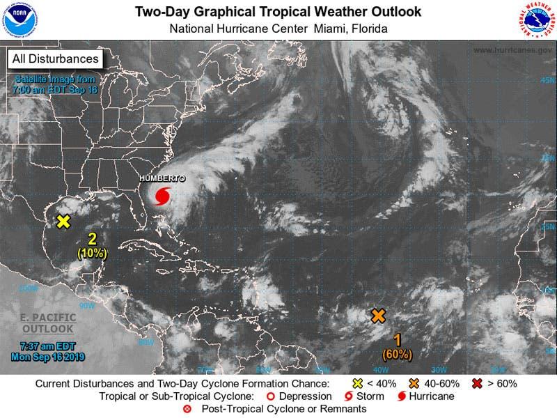 Se monitorean dos ondas tropicales en el Caribe.