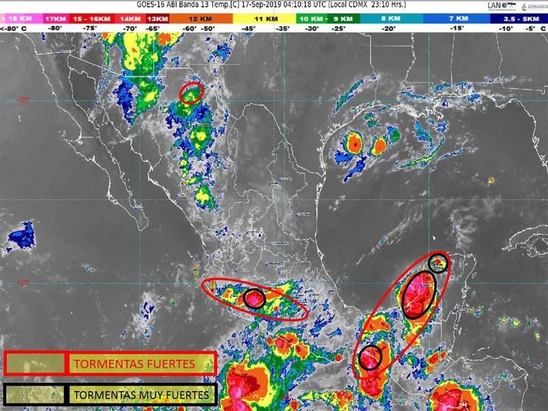 Clima: Temperaturas muy calurosas para Quintana Roo, sistema anticiclónico en el Golfo de México favorece entrada de aire marítimo tropical a la Península.