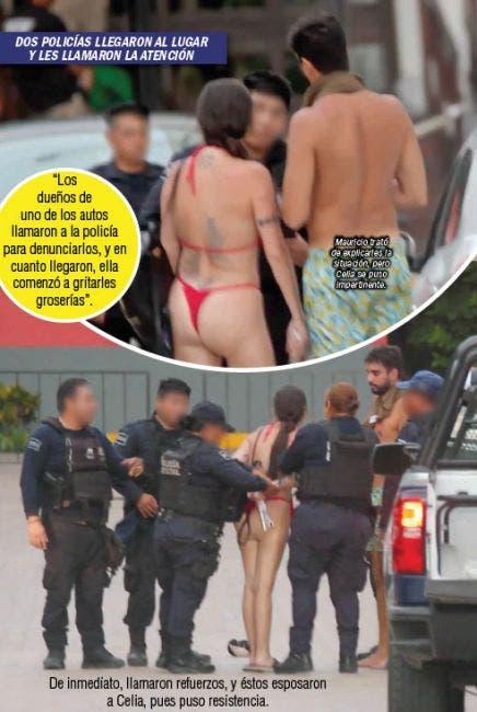 Fotos de la detención de Celia Lora en Playa del Carmen