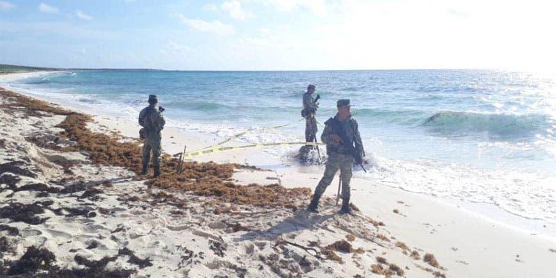 Recala paquete de cocaína en playa de Cozumel.