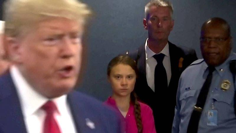 Arrogante Trump busca opacar conferencia de Greta Thunberg