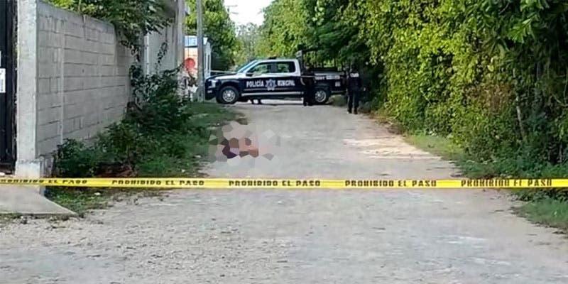 Hallan a ejecutado en la Zona Continental de Isla Mujeres.