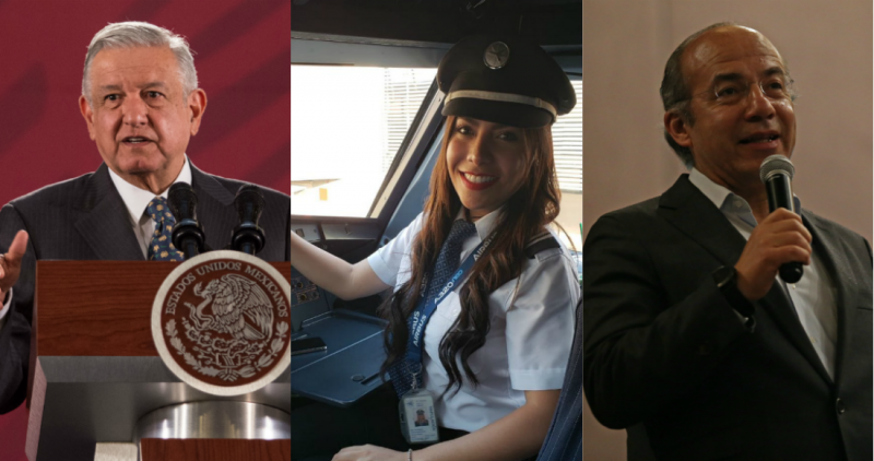 """Minimiza Calderón amenaza de la piloto; AMLO: """"es fuerte, irracional"""""""