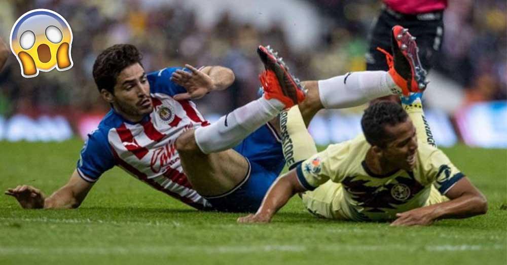 ¡Impactante! Giovani Dos Santos sufrió grave lesión en el Clásico América vs Chivas