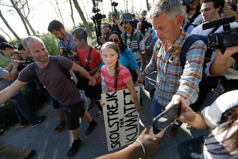 Greta Thunberg durante su participación en la Huelga Mundial por el Clima el pasado sábado 21 de septiembre en la ciudad de Nueva York.