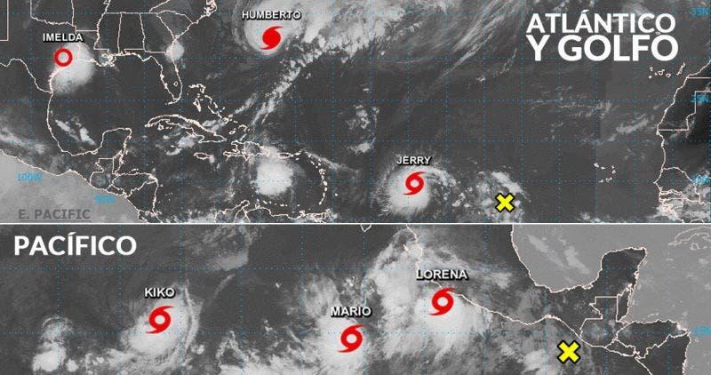 Temporada de huracanes muy activa; seis fenómenos sobre los océanos