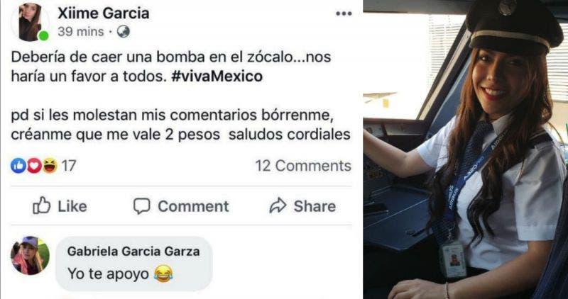 Trabajadora de Interjet propone lanzar una bomba al Zócalo