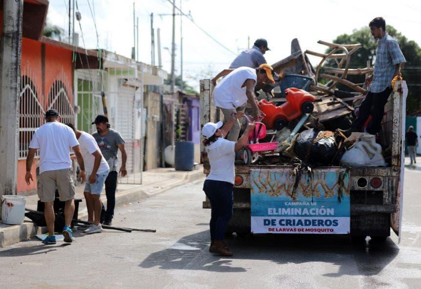 Se dio continuación a la campaña de descacharrización que se viene realizando en todo el municipio para eliminar potenciales criaderos de mosquitos