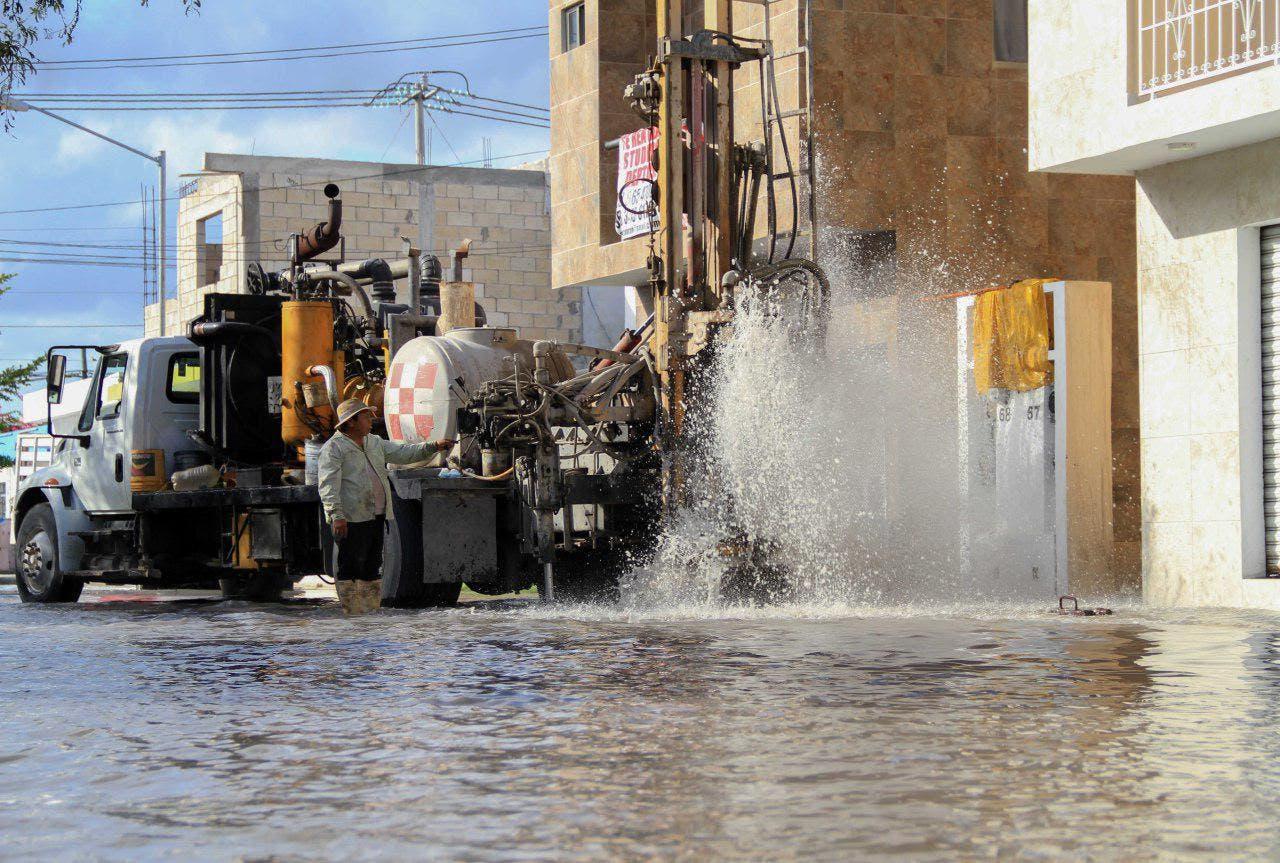 Estos trabajos preventivos ayudan a mitigar afectaciones por las fuertes lluvias que pudieran presentarse en esta época del año, señala la alcaldesa y presidenta de la Conamm