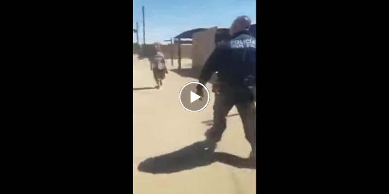 Policía abate a hombre que lo atacó