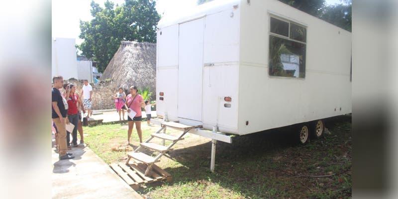 Alumnos de preescolar en Tihosuco continúan en aulas móviles