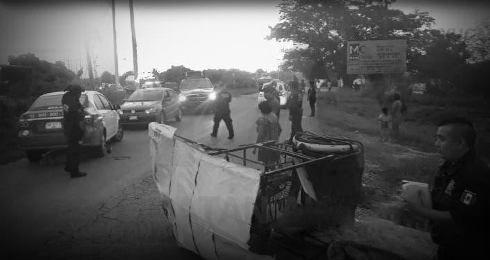 Aseguradora ofrece 1500 pesos y dos bolsas de galletas por tricitaxista que murió
