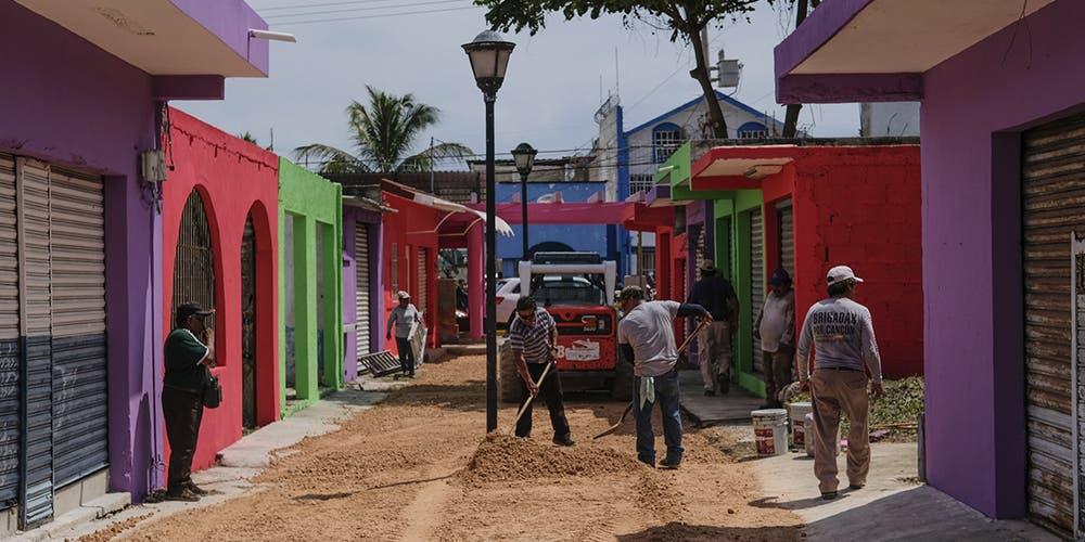 Inicia proceso de mejoramiento de imagen urbana en Puerto Juárez