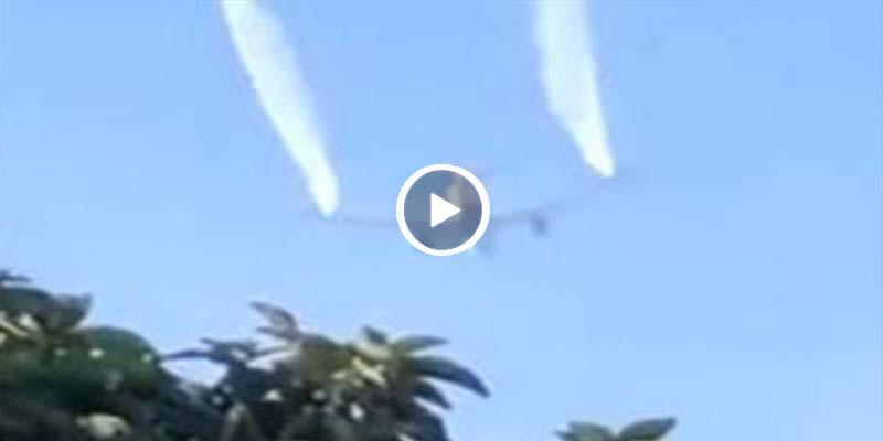 Video: Avión lanza combustible en primaria