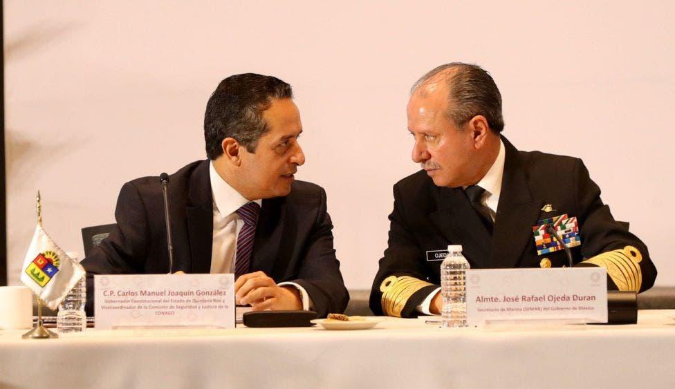 El Gobernador Carlos Joaquín pudo conocer de cerca las estrategias de las distintas dependencias de seguridad para el combate a la delincuencia
