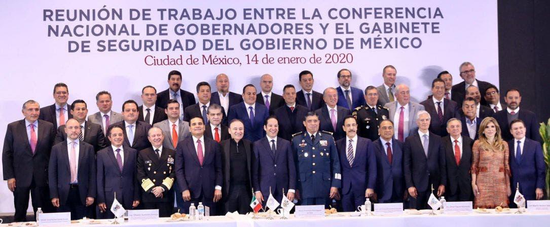 El gobernador de Quintana Roo participó en la reunión de trabajo de la CONAGO con el Gabinete de Seguridad para recuperar la paz y la tranquilidad de los quintanarroenses