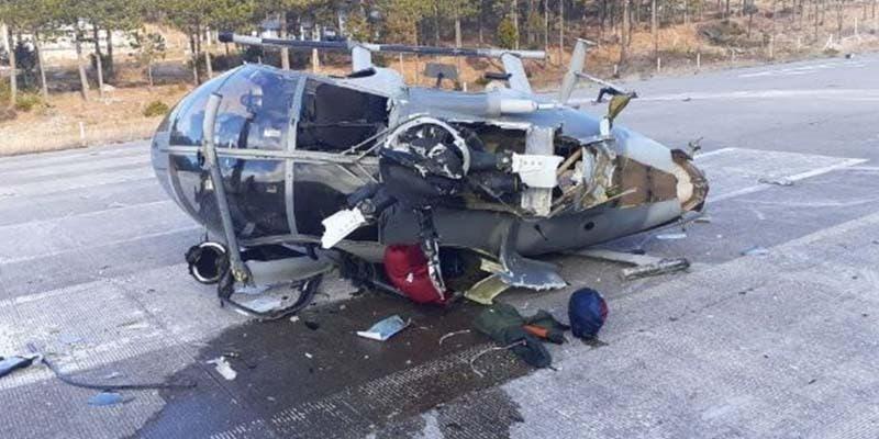 Helicóptero de la Sedena se estrella en Chihuahua