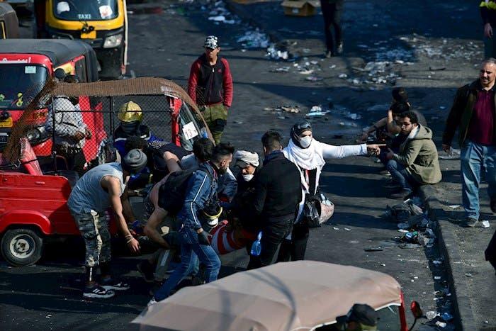 Violentas manifestaciones en Irak el día de hoy.