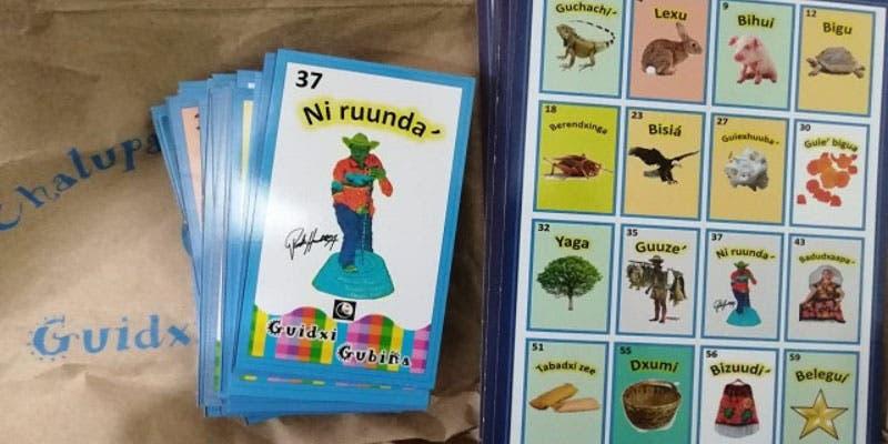 Lanzan en lengua zapoteca el tradicional juego de la lotería.
