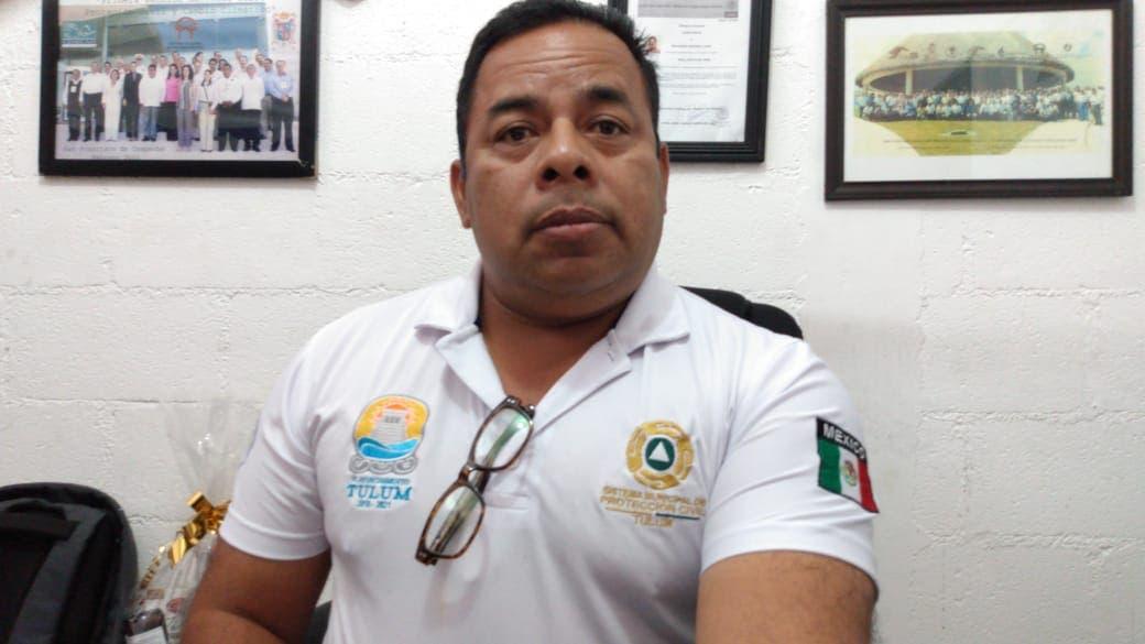 Se puso especial atención en los sitios de mayor concentración de turistas, declaró el Director de Protección Civil de Tulum Lucio Salvador Arguea