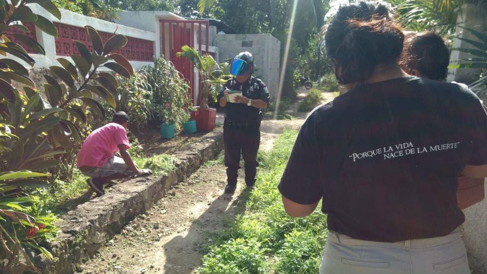 """Machetean a mascota en el asentamiento """"Las Fincas"""" de Cozumel"""