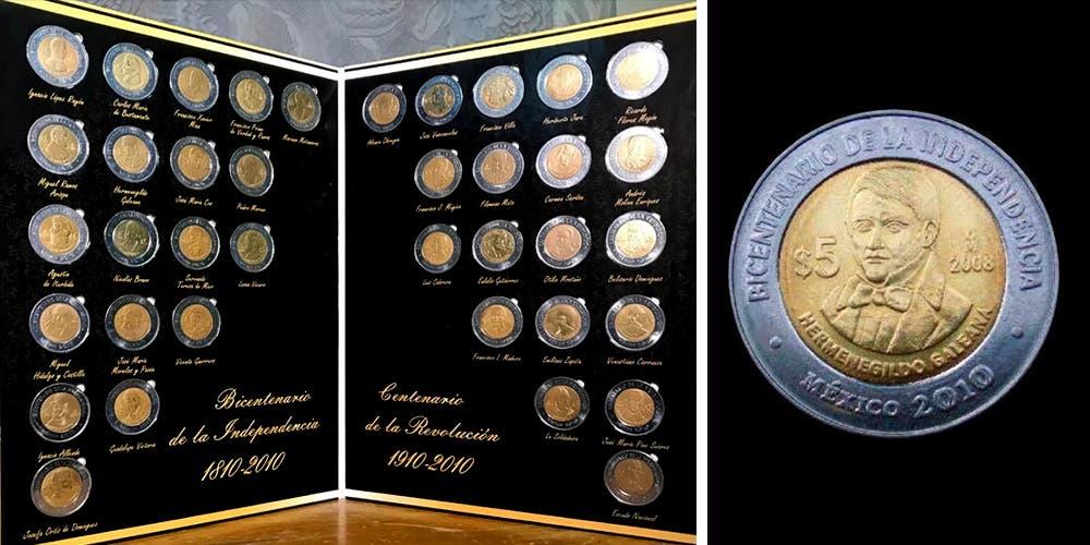 Monedas del Bicentenario se venden hasta en mil pesos