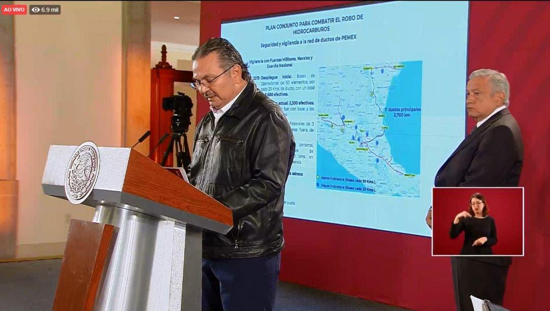 Bajó 91 % robo de combustibles en 2019: Pemex