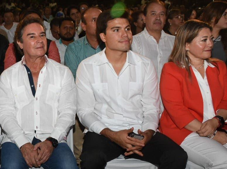 El diputado Gustavo Miranda también estuvo presente en el evento de aniversario del joven municipio